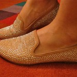 Look sparkling shoes!